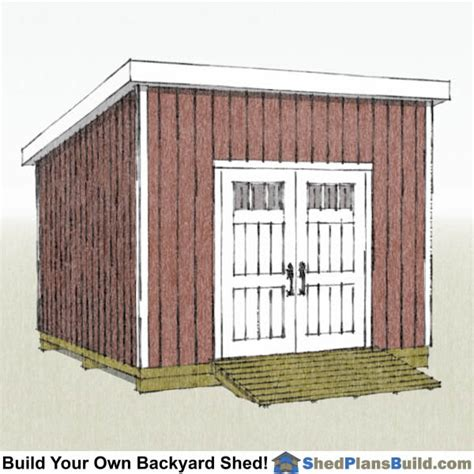 lean  shed plans start building  shed today