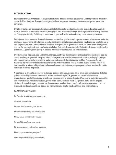 Pedagogía Social y Política; Lorenzo Luzuriaga   Society