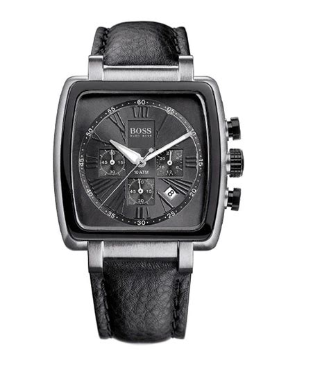 hugo s black label square chronograph