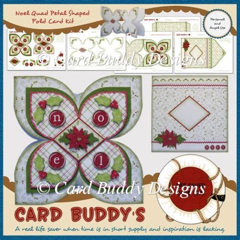 Greeting Card Templates For Corel Wordperfect by Noel Petal Shaped Fold Card Kit 163 1 45