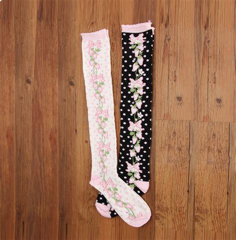Printed Cotton Socks flower printed cotton high socks