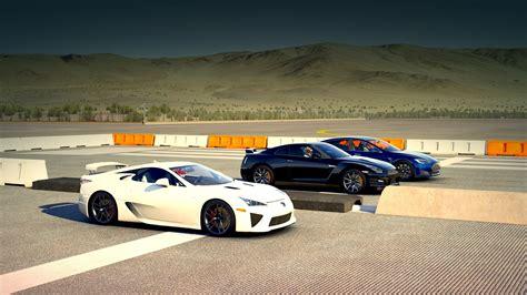 Nissan Lexus by Tesla Model S P85d Vs Nissan Gt R Black Edition Vs Lexus