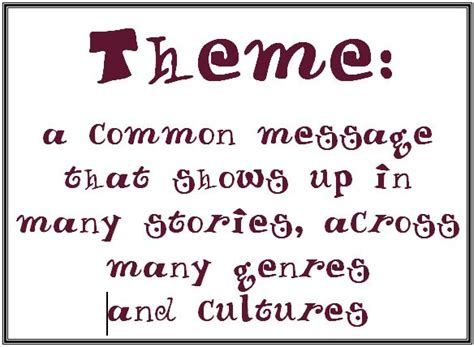 theme definition video life love literacy currently april