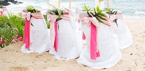 chair cover for wedding in hawaii