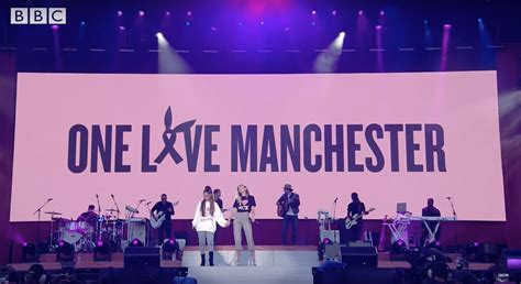in shadow of attack grande leads studded manchester grande leads studded quot one manchester quot benefit raises 10m for terror attack