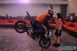 Ktm Stunt Ktm Organises Stunt Show For Motoring Fanatics In