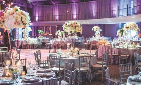 Outdoor Jewish Ceremony   Elegant Reception with Purple