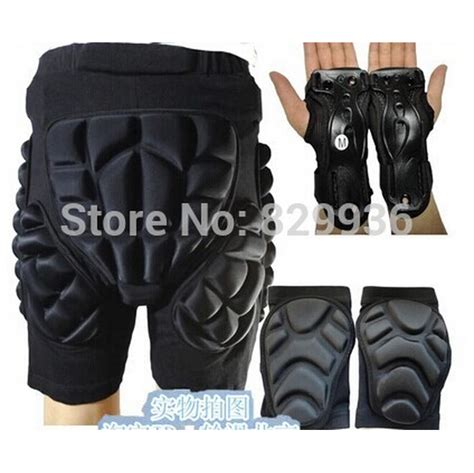 Sporty Set 5 5 pcs set outdoor sports protective skiing hip pad knee pads wrist support palm skiing skating