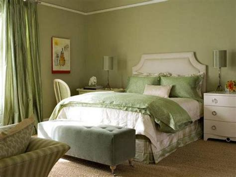 beautiful What Colors Go With Olive Green Walls #2: green-bedroom-colors-interior-design-9.jpg