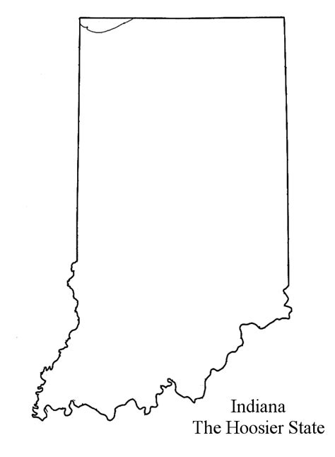 indiana state map coloring page indiana clipart clipart panda free clipart images