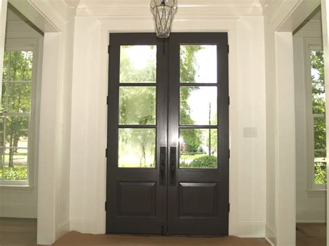 Cedar Front Door by This 3 Light Cedar Front Door Has Been Stained A Walnut Color To Provide A Contrast
