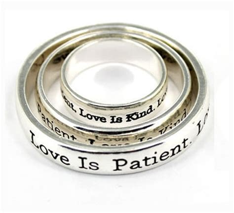 4030295 3 Piece Scarf Ring Set Christian Scripture Religious Jewelry 1 Corint    The Quiet Witness