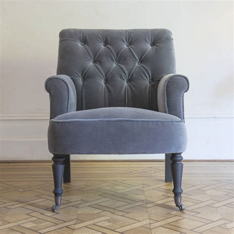 button back armchairs pimlico button back velvet armchair by atkin and thyme notonthehighstreet com