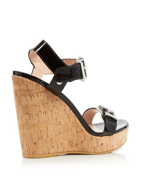 wedge sandals stuart weitzman ankle platform wedge sandals