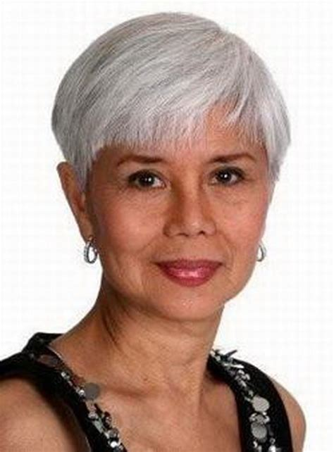 picture of precision grey hair haircut short grey hairstyles for women