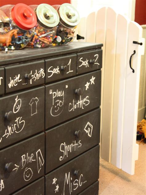 Chalkboard Dresser by Toddler To 15 Clutter Busting Rooms