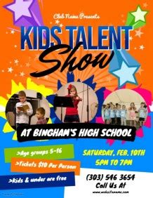 1 020 Customizable Design Templates For Talent Show Postermywall Free Printable Talent Show Flyer Template