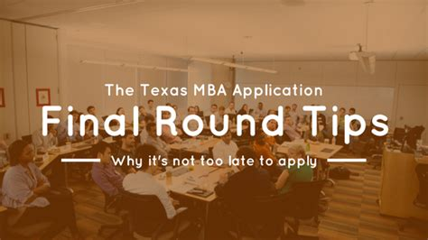 Mccombs Mba Scholarship Deadline by Application Deadline Mccombs Mba Insider