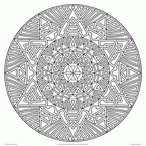 0 Level Coloring Pages by Mandala Coloring Pages Expert Level To Print Free