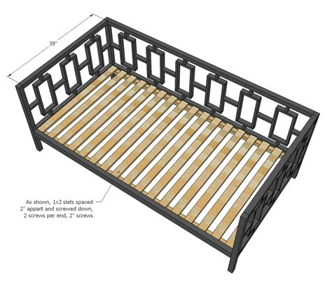 day bed plans heja access woodworking plans daybed