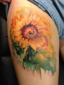 watercolor tattoos sunflower ideas yo tattoo