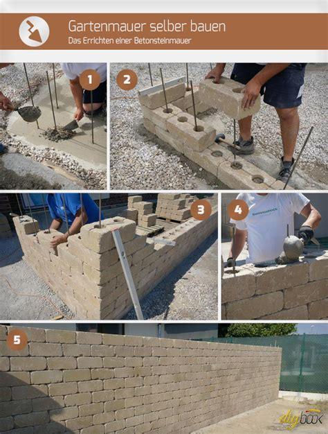 gartenmauer selber bauen gartenmauer selber bauen das errichten einer