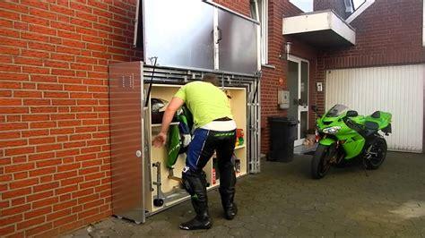 pratique  garage moto telescopique en metal youtube