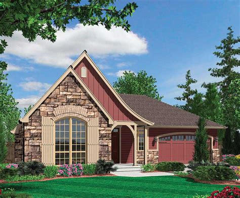 european cottage plans european cottage plan with arched entry 69118am 1st