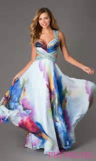 Floral Prom Dresses Floral Print Dave And Johnny Prom Gown