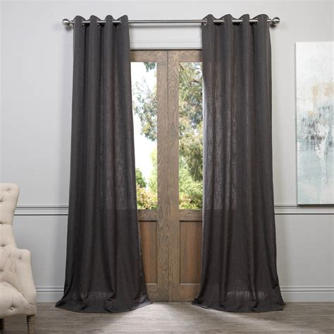 where to buy curtains cheap where to find slate grey grommet heavy faux linen curtain