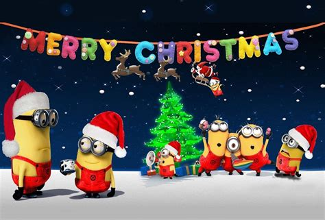 minions christmas desktop tablet wallpaper minion christmas cute minions minion pictures