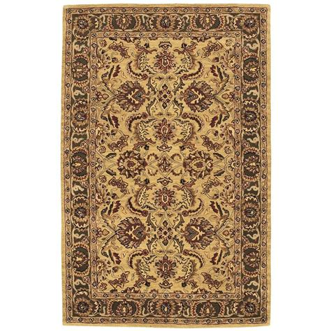 Area Rugs From India Nourison India House Gold 8 Ft X 10 Ft 6 In Area Rug 212658 The Home Depot