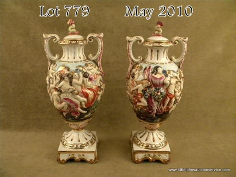 capodimonte vase pair of large matched capodimonte porcelain vases approx
