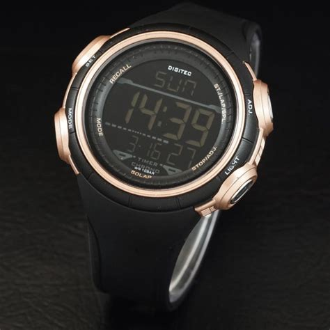 Jam Tangan Pria Digitec Dg3028 Black Gold Original jual beli digitec outdoor water resist original black