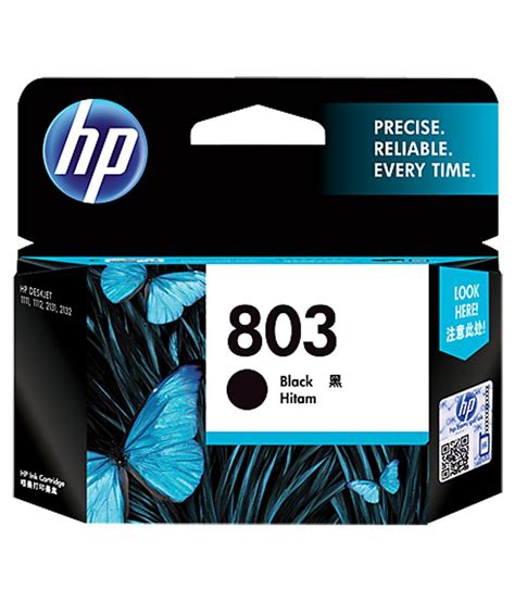 Cartridge Hp 802 Black Original 1 hp 803 black original ink cartridge available at snapdeal for rs 784