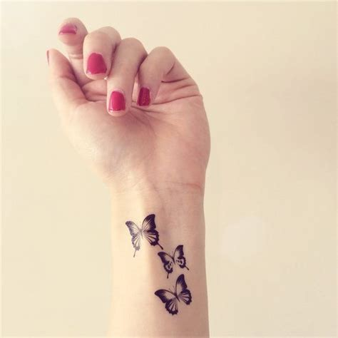 fake wrist tattoos 3pcs butterfly inknart temporary by