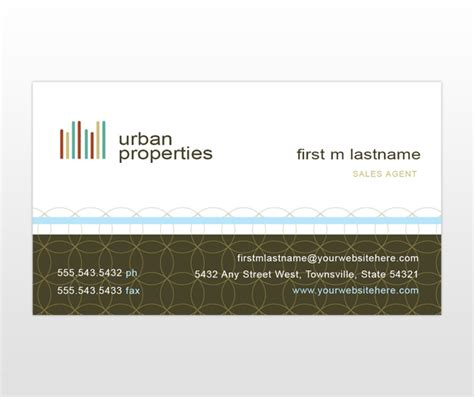 Real Estate Business Card Template by City Real Estate Business Card Template