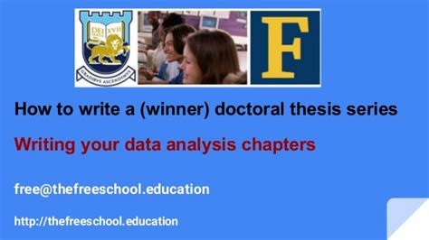 how to write data analysis for dissertation write your dissertation