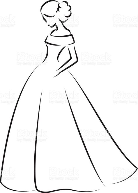 Wedding Dress Outline by Wedding Dress Outline Clipart Mini Bridal