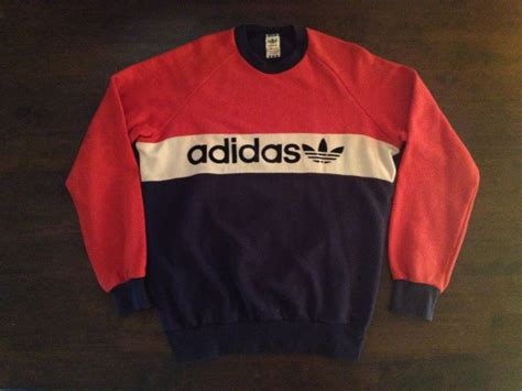 Amazon Kitchen Furniture by Rare Vintage Adidas Trefoil Sweater Sweatshirt Sz M M