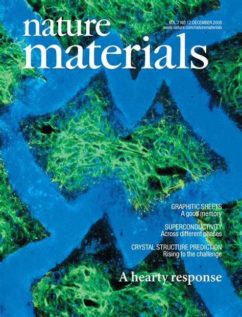 nature materials journal covers langer lab