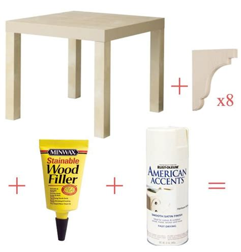 ikea side table hack lack hack side table diy pinterest