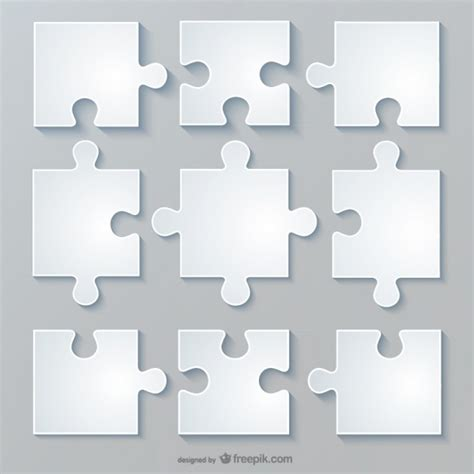 Layout Puzzle Vector | vector jigsaw layout vector free download