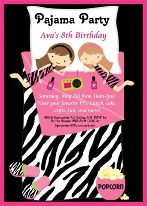 slumber sleepover pj pajama birthday invitation planning