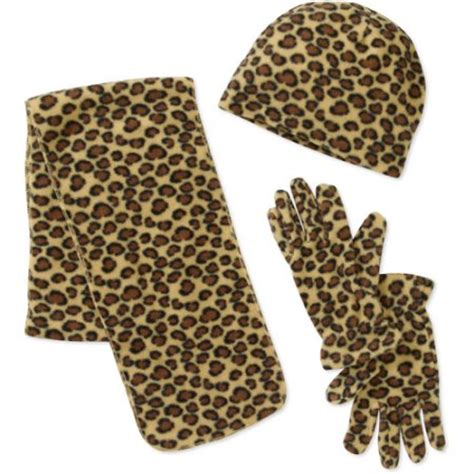 s fleece 3 scarf glove and hat set walmart
