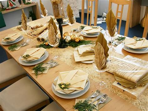 decoration gold and white christmas table decorations with