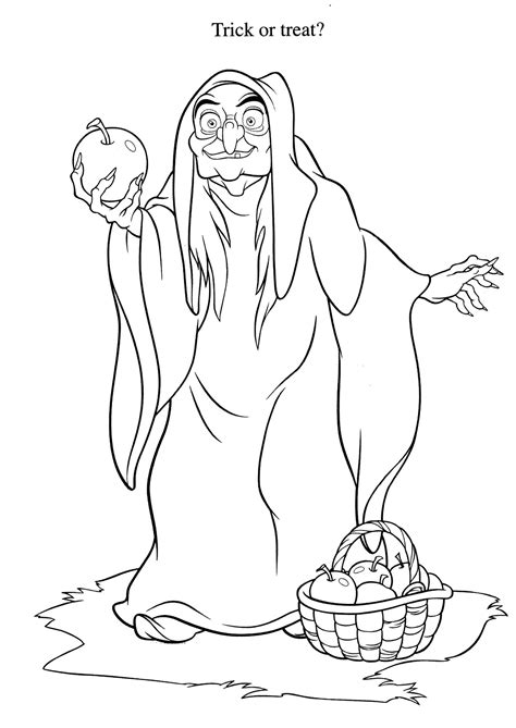 snow white witch coloring pages coloring pages