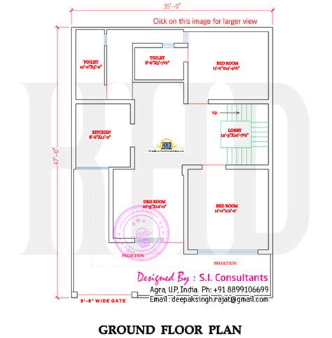 1st floor house plan india north indian style flat roof house with floor plan