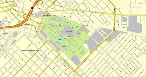 dallas texas us map dallas texas us exact vector map adobe illustrator editable city plan v3 09 vector
