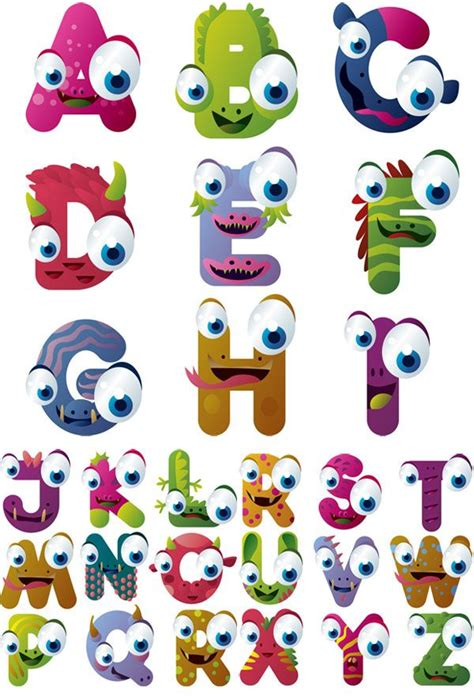 free printable monster alphabet letters 24 best images about fonts alphabets on pinterest canon